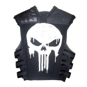 Jet Black Men's Leather Vest