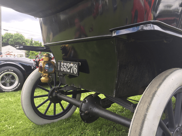 Rear View showing license plate Don Poffenroth's 1911 Model T
