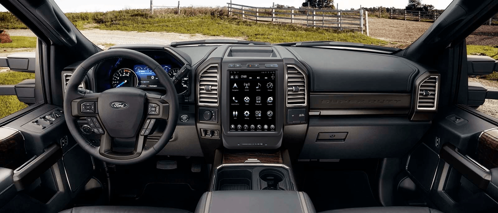 2015-2019 Ford F150, F250, F350 Linkswell T Style Radio - Katzkin Leather  Seat Skins