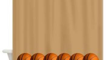 Basketball Row Shower Curtain Sports Curtains The