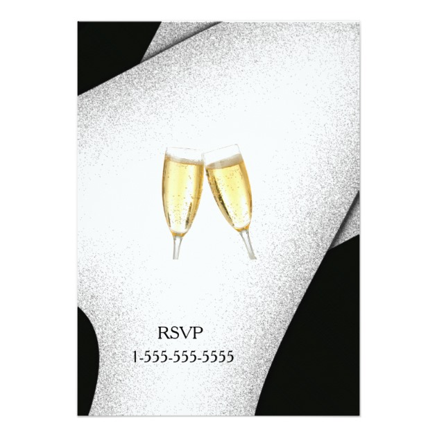 celebration champagne glass new year invitation zazzle home