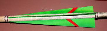 Fletching view - flight feathers