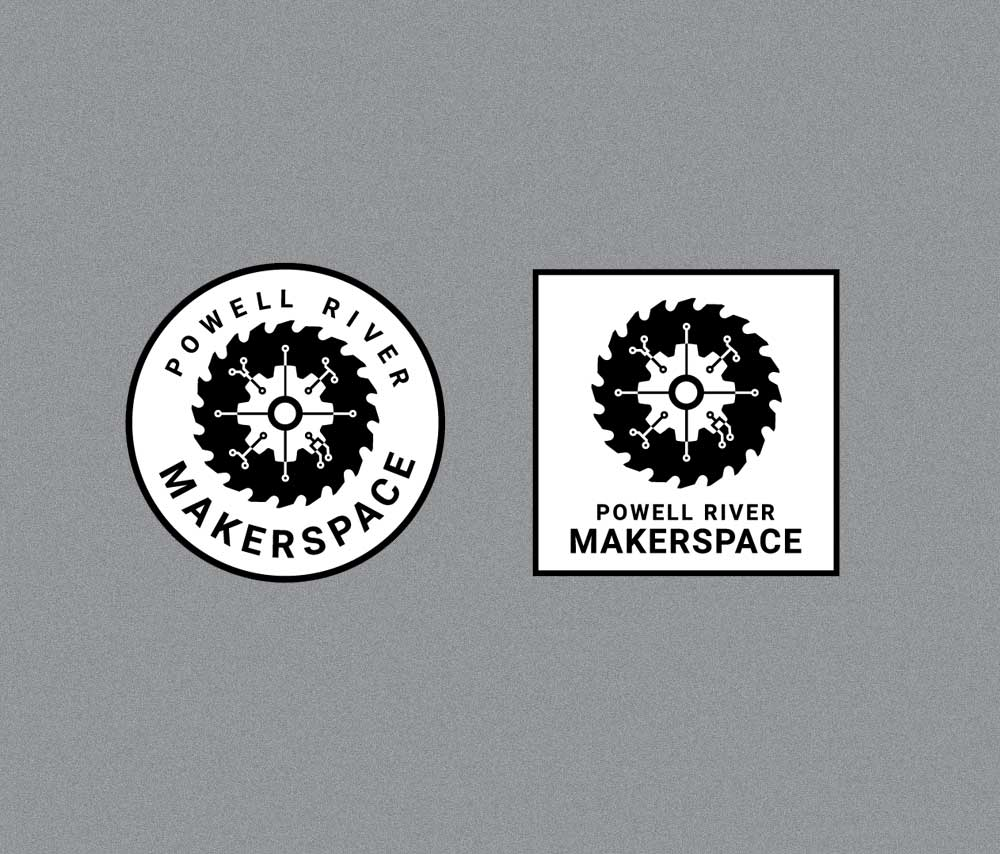 Powell River Maker Space Logos Small