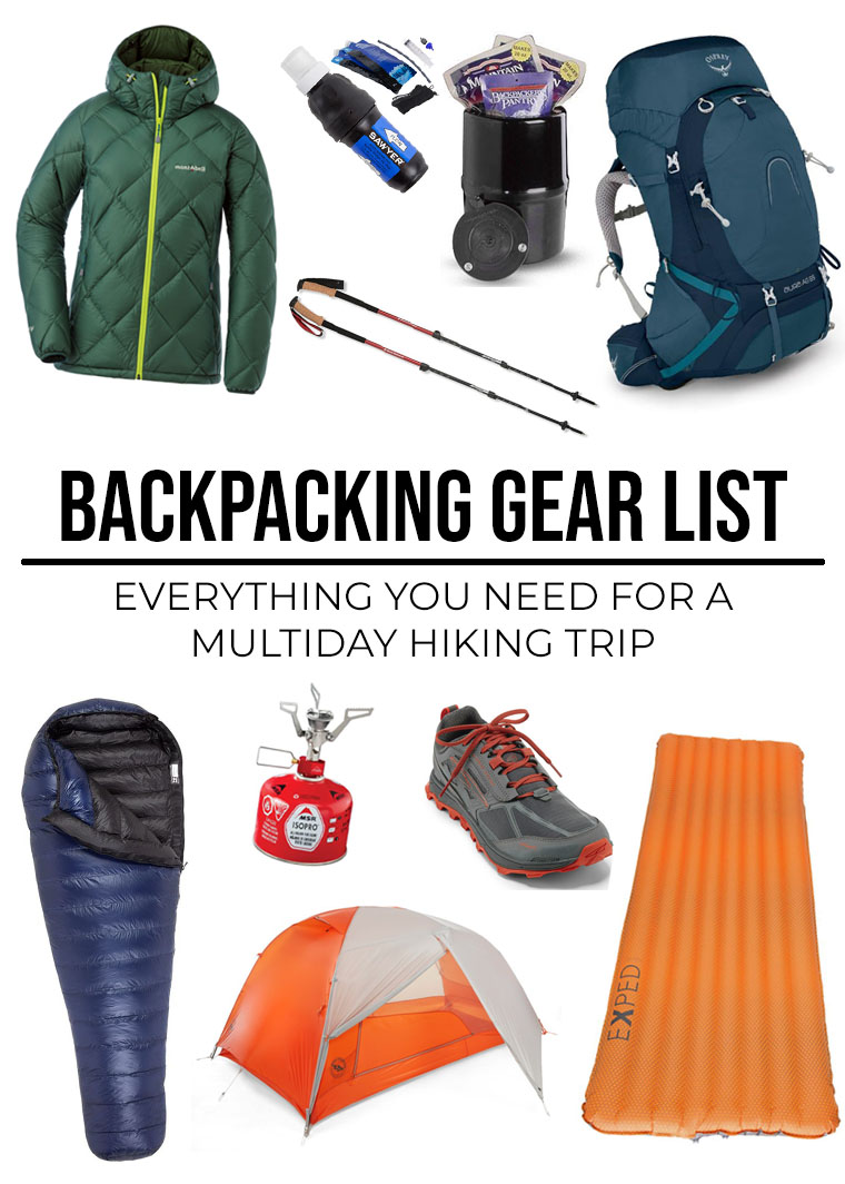 8fea802aa4c Backpacking Gear List: What To Take For Overnight Backpacking ...