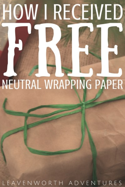 How I Received FREE Neutral Wrapping Paper
