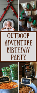 Outdoor Adventure Birthday Party - Take a look at the party details, pictures and shopping list at LeavenworthAdventures.com