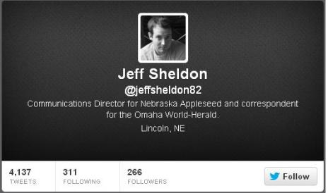 Jeff Sheldon - Twitter description - cached 032313JPG