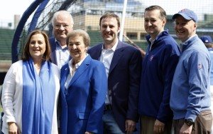 That's Tom Ricketts, not Ted Cruz, next to Pete...