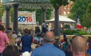 Dr. Ben Carson at Council Bluffs' Bayliss Park.