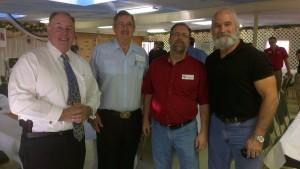 Senator Dave Bloomfield, NFOA President and firearms expert Rod Moeller and Senator Tommy Garrett (via Sen. Kintner)