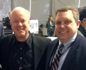 Jerry Kratochvil with Brian Buescher