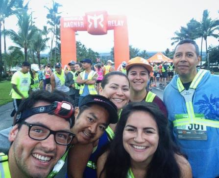 My Ragnar team at the starting line of the race