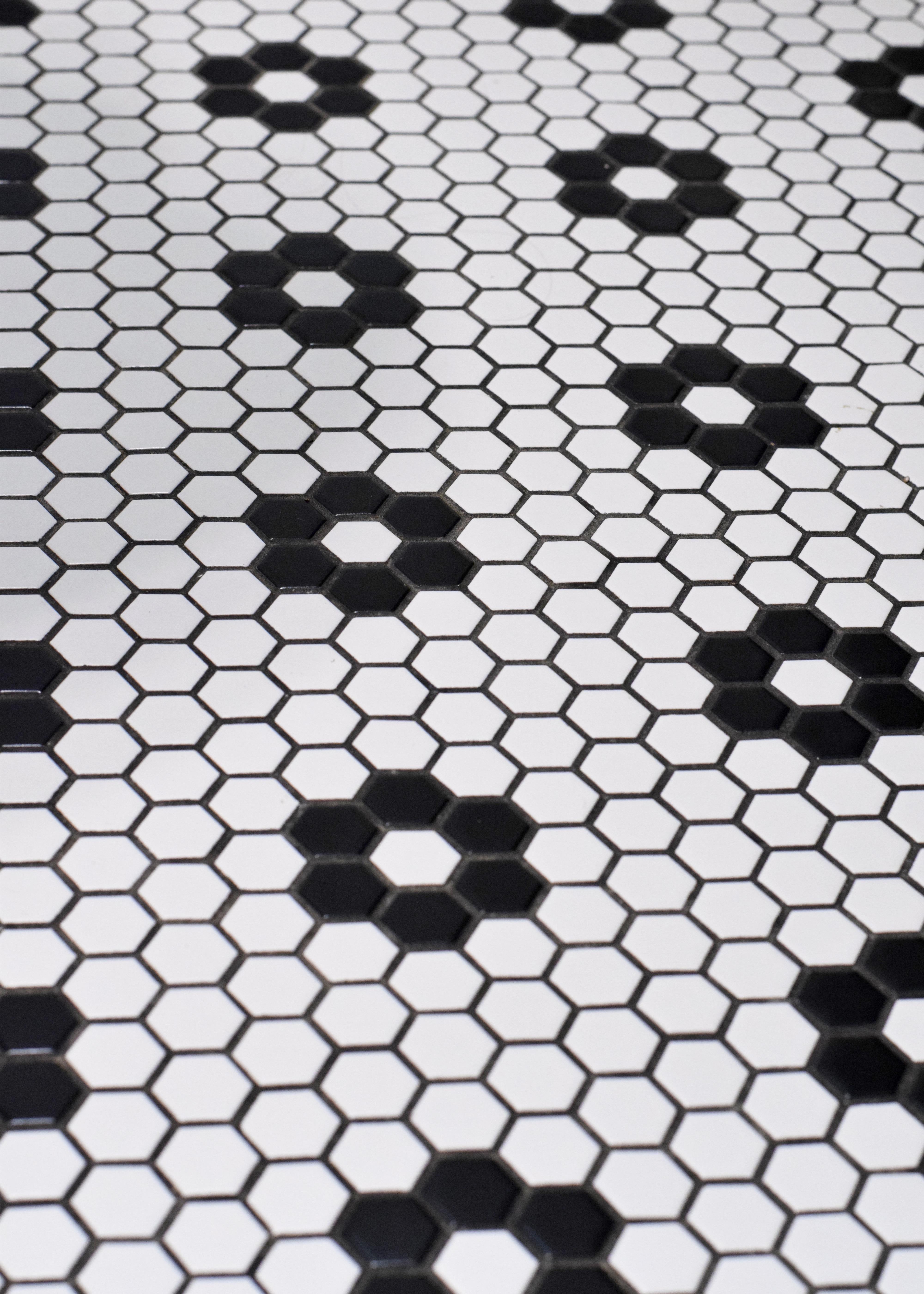white marble hexagon tile floor gallery wodzislaw decor
