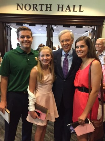 All three with Dr. Charles Stanley