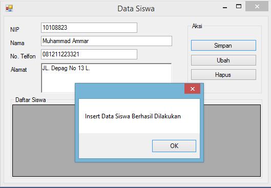 Insert Data Dari Aplikasi VB.Net Ke Database MySQL