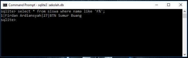 Operator Like Di Database SQLite