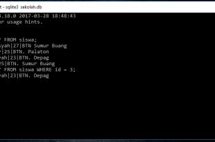 Tutorial Belajar SQLite Perintah Where