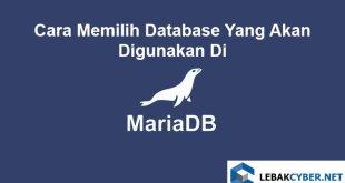 Cara Memilih Database Yang Akan Digunakan Di MariaDB