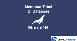 Membuat Tabel Di Database MariaDB