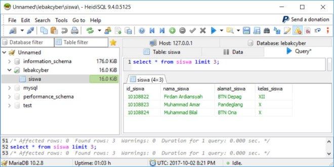 Perintah Select Data di Database MariaDB