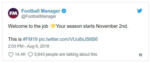 Ini Dia Tanggal Rilis Football Manager 2019