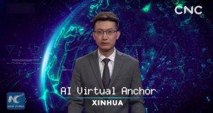China Pamerkan Penyiar Berita Virtual