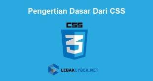 Pengertian Dasar Dari CSS
