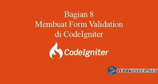 Membuat Form Validation di CodeIgniter