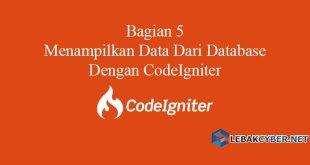 Menampilkan Data Dari Database Dengan CodeIgniter