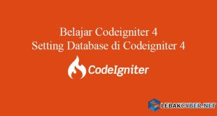 Setting Database di Codeigniter 4