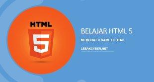 Membuat iFrame di HTML