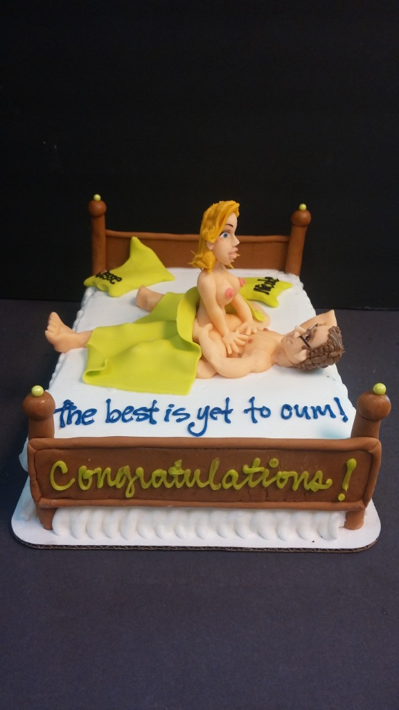 couples Archives   le  Bakery Sensual Couple in Bed Bachelorette Cake