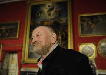 Danish cartoonist Kurt Westergaard is pictured after receiving the M100 Media Prize 2010 in Potsdam, eastern Germany, September 8, 2010. Westergaard drew the most controversial of 12 caricatures of the Prophet Mohammed, first published in a Danish newspaper in 2005, which many Muslims considered offensive. The drawings sparked protests in January and February 2006 that culminated with the torching of Danish diplomatic offices in Damascus and Beirut and the death of dozens of people in Nigeria.    AFP PHOTO / ODD ANDERSEN (Photo by Odd ANDERSEN and - / AFP)