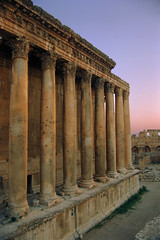 The Temple of Jupiter at sunset, Baalbek, Lebanon
