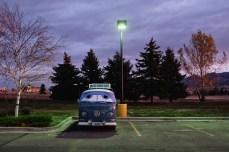 A VW camper van that was my sleeping neighbor at the Bozeman Walmart.