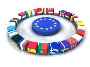 Drapeaux parlement europe 3D
