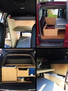 Rangement dans le van aménagé - tout sur le baroudeur