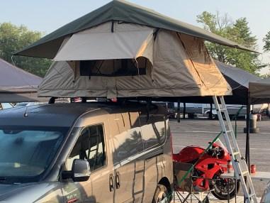 camper van roof tent