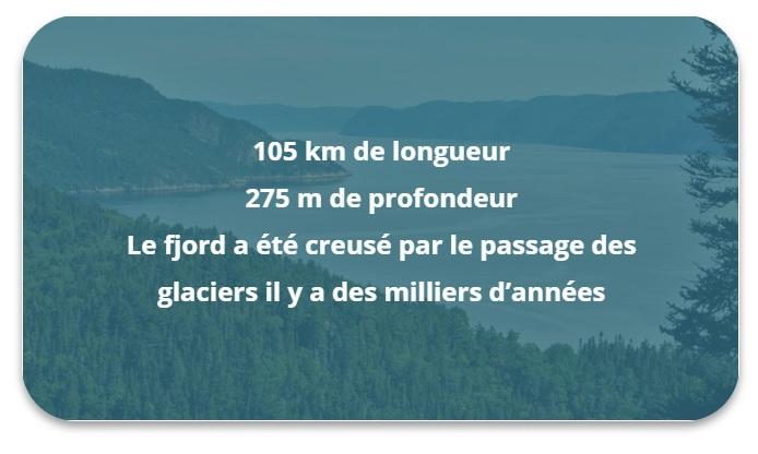Informations sur le Fjord du Saguenay
