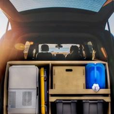 Intérieur du van avec kit de conversion