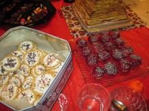 Muffins marbrés et sablés de fête maison