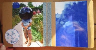 mini album scrap voir la vie en bleu