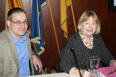 Fleißige Schriftführerin Ingrid Lenze, daneben der stellvertretende Schatzmeister Michael Urban