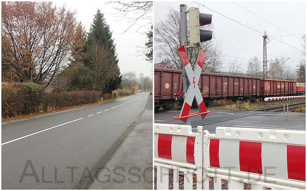 12 von 12 - Novemberi 2015 - beschrankter Bahnübergang