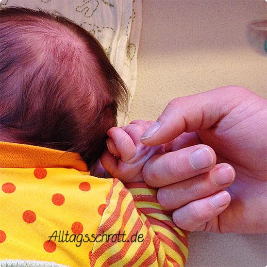 12 von 12 - Juni 2015 - Papa hält Babyhand