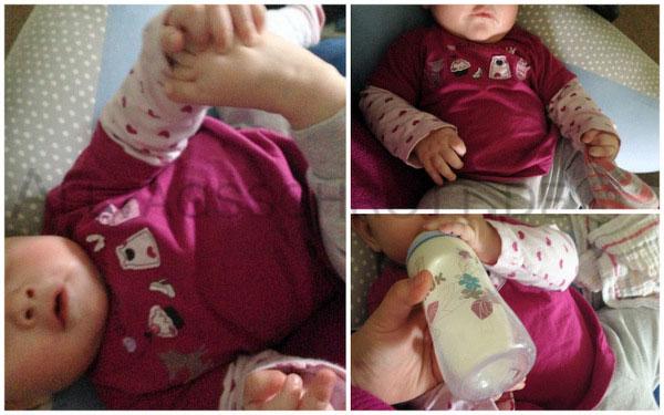 12 von 12 - November 2015 - albernes Baby spielt mit den Füßen