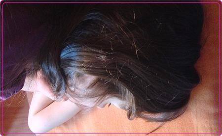 die Prinzessin - übermüdet - Schlaf nachholen