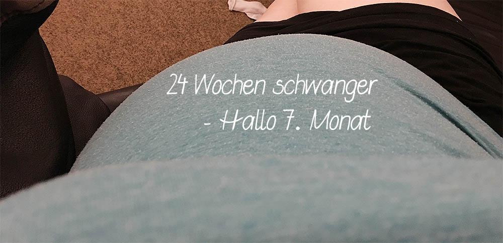 7. Schwangerschaftsmonat - 24 Wochen schwanger - Babybauch