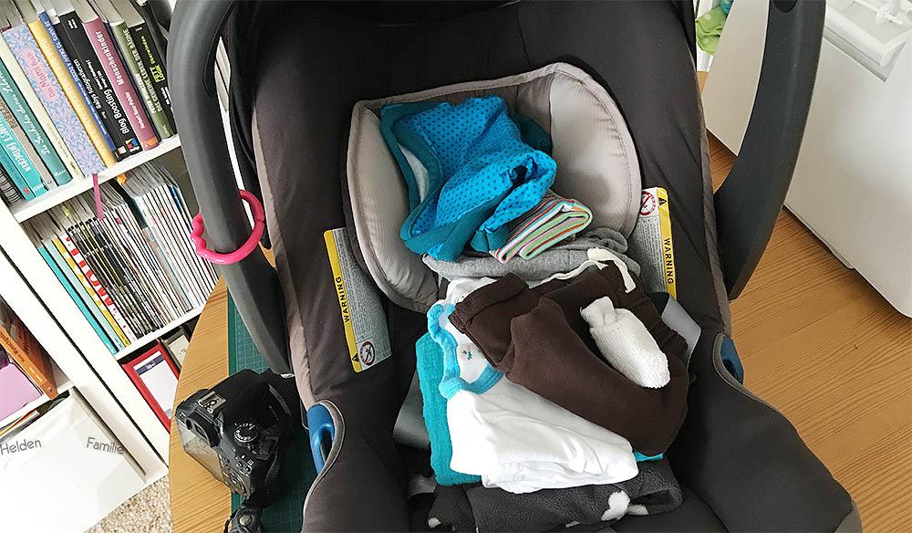 12von12 - ET -7 - Himbeerblättertee - Baby - Geburt - Babyschale fertig