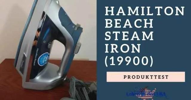 Hamilton Beach Steam Iron Bügeleisen Produkttest